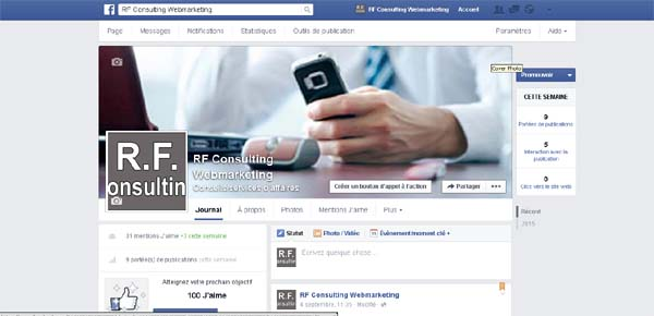RF CONSULTING : Création de page Facebook